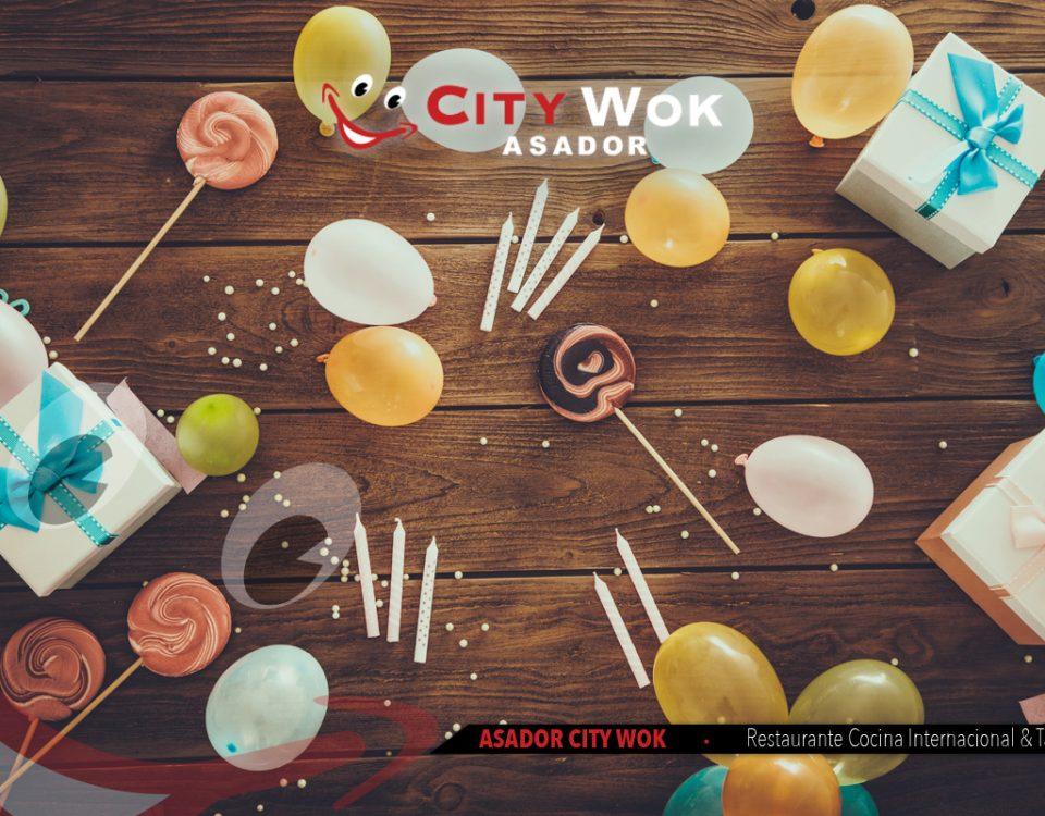 Cumpleaños y eventos en el Restaurante City Wok en Talavera (Toledo)