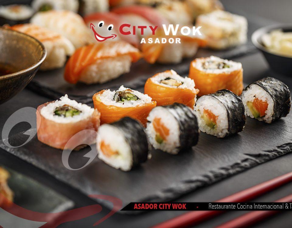 Prueba una gran variedad de tipos de sushi en City Wok Talavera