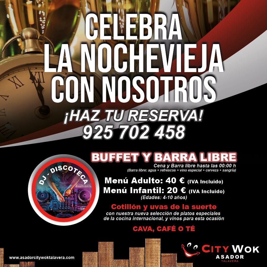 Celebra Nochevieja en Asador City Wok de Talavera, Toledo